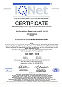 IQNET Certificate ISO 9001:2015 Quality