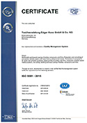 Certificate ISO 9001:2015 Quality